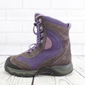 LL Bean Purple Suede Winter Hiking Boots Size 7
